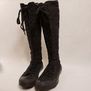 Converse All Star BLACK Knee High Sneaker M 4 W 6